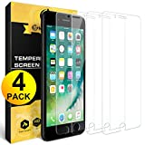 [4 Pack] for iPhone 8 / iPhone 7 Screen Protector, Nearpow [Tempered Glass] Screen Protector with [9H Hardness] [Crystal Clear] [Easy Bubble-Free Installation] [Scratch Resist]