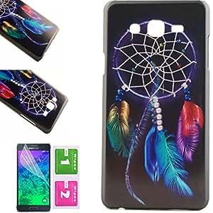 CaseMa-EU Duro Caso Volver Piel Plástica Cubierta Protector Carcasa Case Cover para Samsung Galaxy On7 5.5 inch (Color Dreamcatcher MM) + Gratis Protector de Pantalla