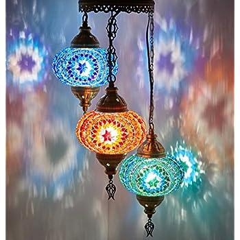 Demmex Turkish Moroccan Mosaic Hardwired Or Swag Plug In
