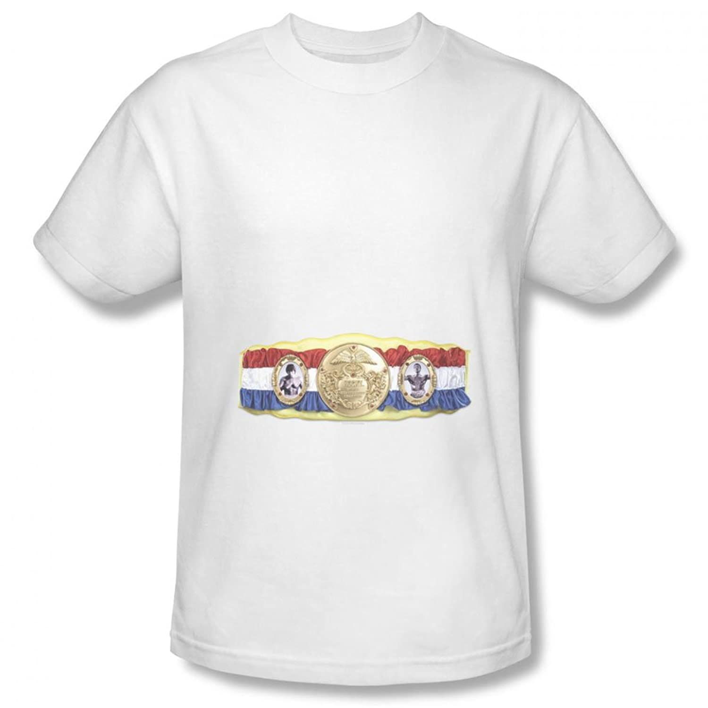 Rocky - Mens Championship Belt(Bottom Front) T-Shirt In Black