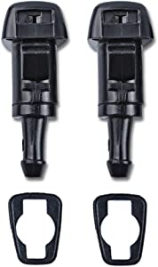 OTUAYAUTO Front Windshield Washer Nozzles, for 05-10 Jeep Grand Cherokee, 08-15 Jeep Patriot - Replaces OEM #: 5116079AA, Spray Jet Kit (pack of 2)
