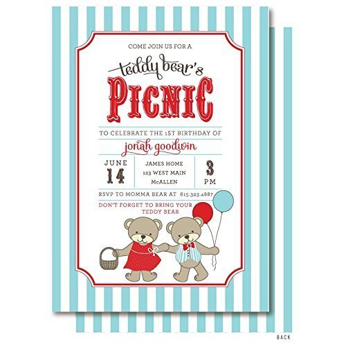 amazon com teddy bear s picnic invitations handmade