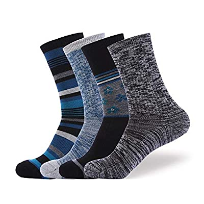 EnerWear 4P 86% Merino Wool Women's Outdoor Hiking Trail Crew Socks