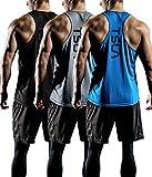 TSLA Men's 3 Pack Workout Muscle Tank Sleeveless