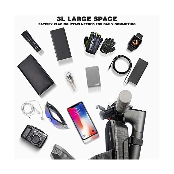 Outinhao, Monopattino Borsa, 2L/3L, Large Capacity Borsa di Stoccaggio, per Xiaomi/Mijia/M365 Scooter, Monopattino 2 spesavip