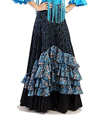 Anuka Falda de Mujer para la Danza Flamenco o sevillanas ...