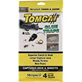 Tomcat Glue Traps For Mice And Insects - 4 Pack