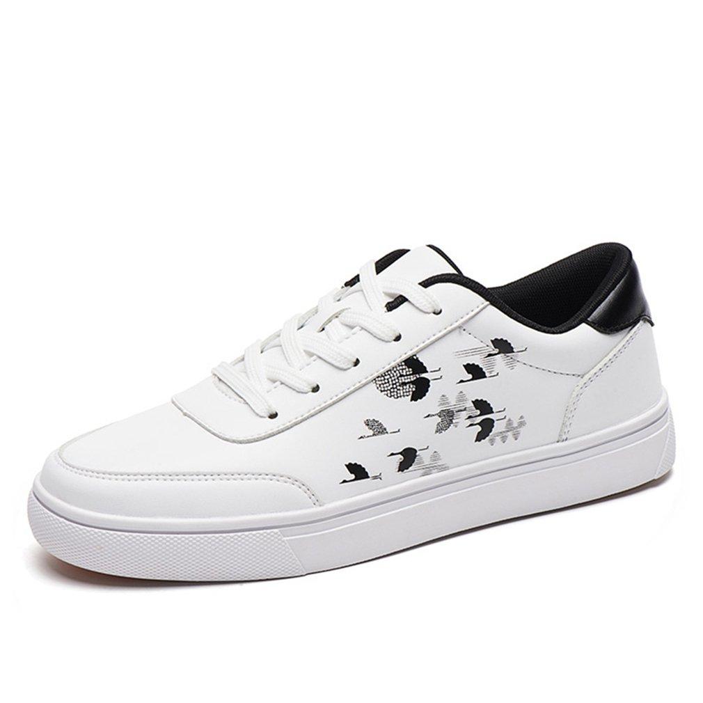 [イノヤ] カジュアル ホワイト スケートボードシューズ メンズ 白の靴 白色 デッキシューズ メンズ シューズ おしゃれ レースアップ ローカット スケートシューズ カジュアルシューズ 黒 B07F37YBG3 25.0 cm ホワイト/ブラック