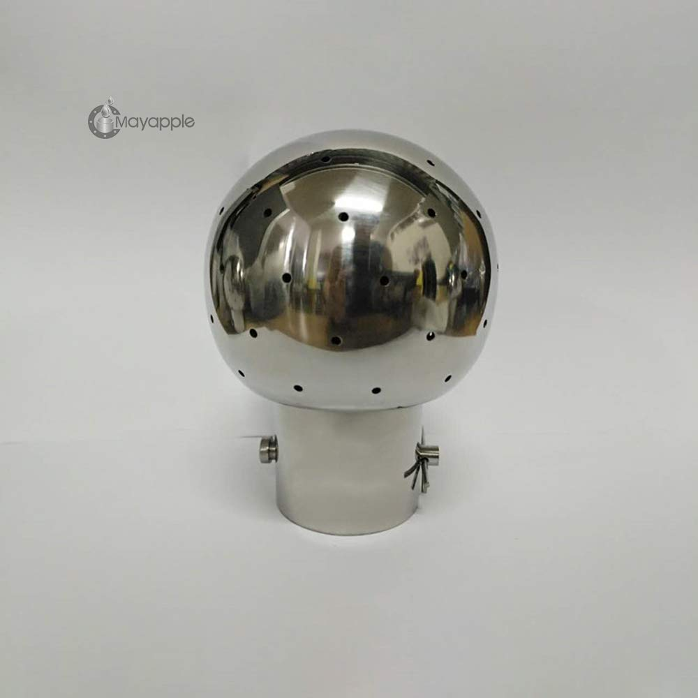 2-1/2'' (100 MM Ball) Pin Style Fixed Spray Cleaning Ball,Bolted Spray Ball, Stainless Steel 316L