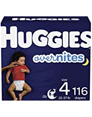 Huggies Overnites Night Time Disposable Diapers, Giga & Stock Up Pack