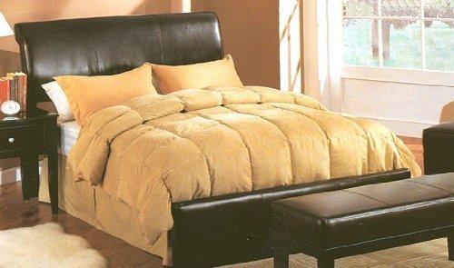 Dark Brown Faux Leather Queen Size Bed Headboard - bedroomdesign.us