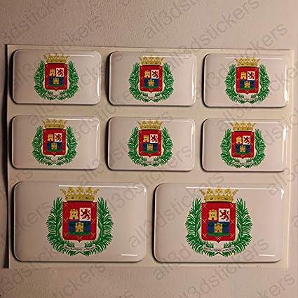 Pegatinas Las Palmas de Gran Canaria España Resina, 8 x Pegatinas ...