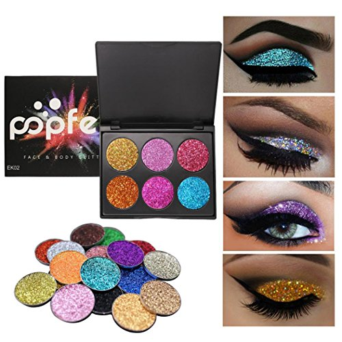 Eye Shadow Palettes 6 Color Makeup Palette Eyeshadow Shimmer