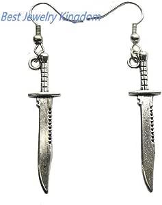 Sword Earrings, Sword Jewelry, Gothic Jewelry,Silver Swords,Weapon Jewelry,Cute Earrings
