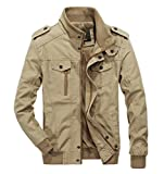 Product review for RongYue Men's Cotton Stand Collar Lightweight Military Windbreaker Jacket