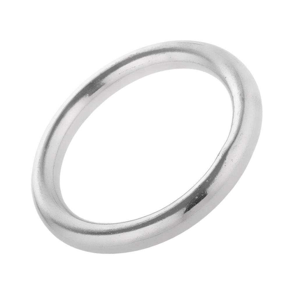 Jili Online High Strength Marine 304 Stainless Steel Welded Round O Rings  Boat Rigging Hardware 1.6