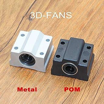 Amazon.com: GIMAX 4Pcs/lot SC8UU SCS8UU Aluminio / POM 0.315 ...