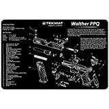 TekMat Walther PPQ Handgun Cleaning Mat, Black
