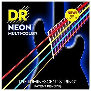 DR Neon Multi Color Bass Saiten Strings 4-Saiter, 045 – 105