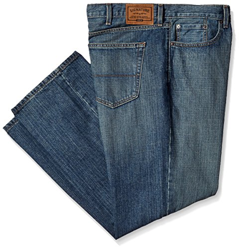 Signature by Levi Strauss & Co. Gold Label Men's Big and Tall Relaxed Fit Jeans, Rutherford, 46W x (Big Tall Mens Pants)