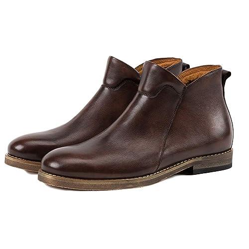 Botas Dr Martens Botas para Adultos Botas De Seguridad Zapatos De Cuero Clásicos Zapatos De Cuero Retro para Hombre Botas Altas De Cuero Botas Chelsea: ...