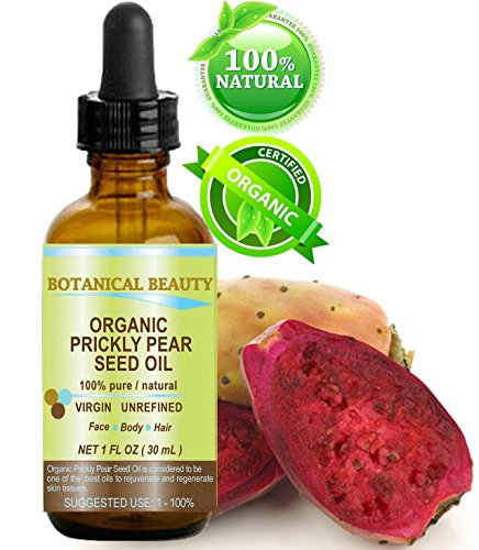 PRICKLY PEAR CACTUS SEED OIL ORGANIC. 100% Pure / Natural / Undiluted / Virgin / Unrefined Cold Pressed Carrier oil. 1 Fl.oz.- 30 ml. For Skin, Hair, Lip and Nail Care.
