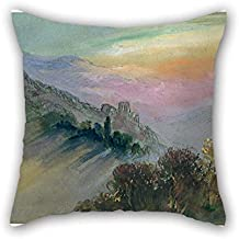 20 X 20 Inches / 50 By 50 Cm Oil Painting Hercules Brabazon - Mountain Landscape Throw Cushion Covers Both Sides Is Fit For Festival Car Seat Him Wife Relatives Valentine