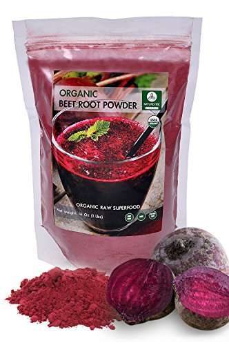 Organic Beet Root Powder (1lb) by Naturevibe Botanicals, Gluten-Free, Raw & Non-GMO (16 ounces)