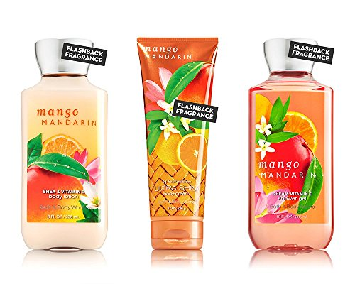Bath Body Works Mango Mandarin Body Cream, Shower Gel and Body Lotion Gift Set