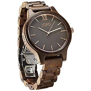 JORD Wooden Wrist Watches for Men or Women - Frankie Minimalist Series / Wood Watch Band / Wood Bezel /...