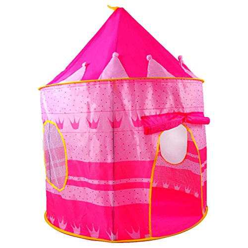 Last Minute Costumes At Home (Pink Castle Tent for Girls - Indoor or Outdoor Teepee Pop Up Tent for Little Princesses)