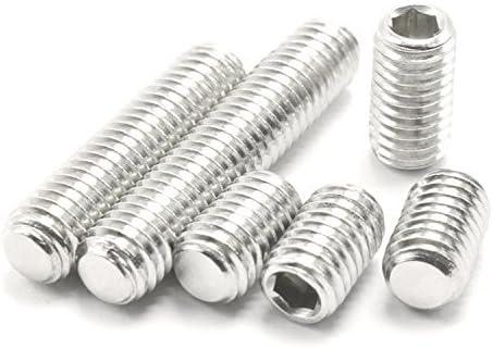 #4-40 UNC Flat Point Set Screws Hex Socket Grub Screws Pack of 100-Pieces #4-40 x 1//4