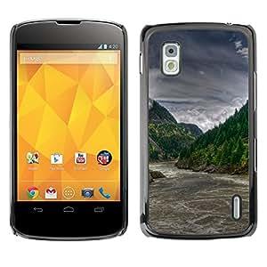 EJOY---Cubierta de la caja de protección la piel dura para el / LG Nexus 4 E960 / --Forrest río Rapids