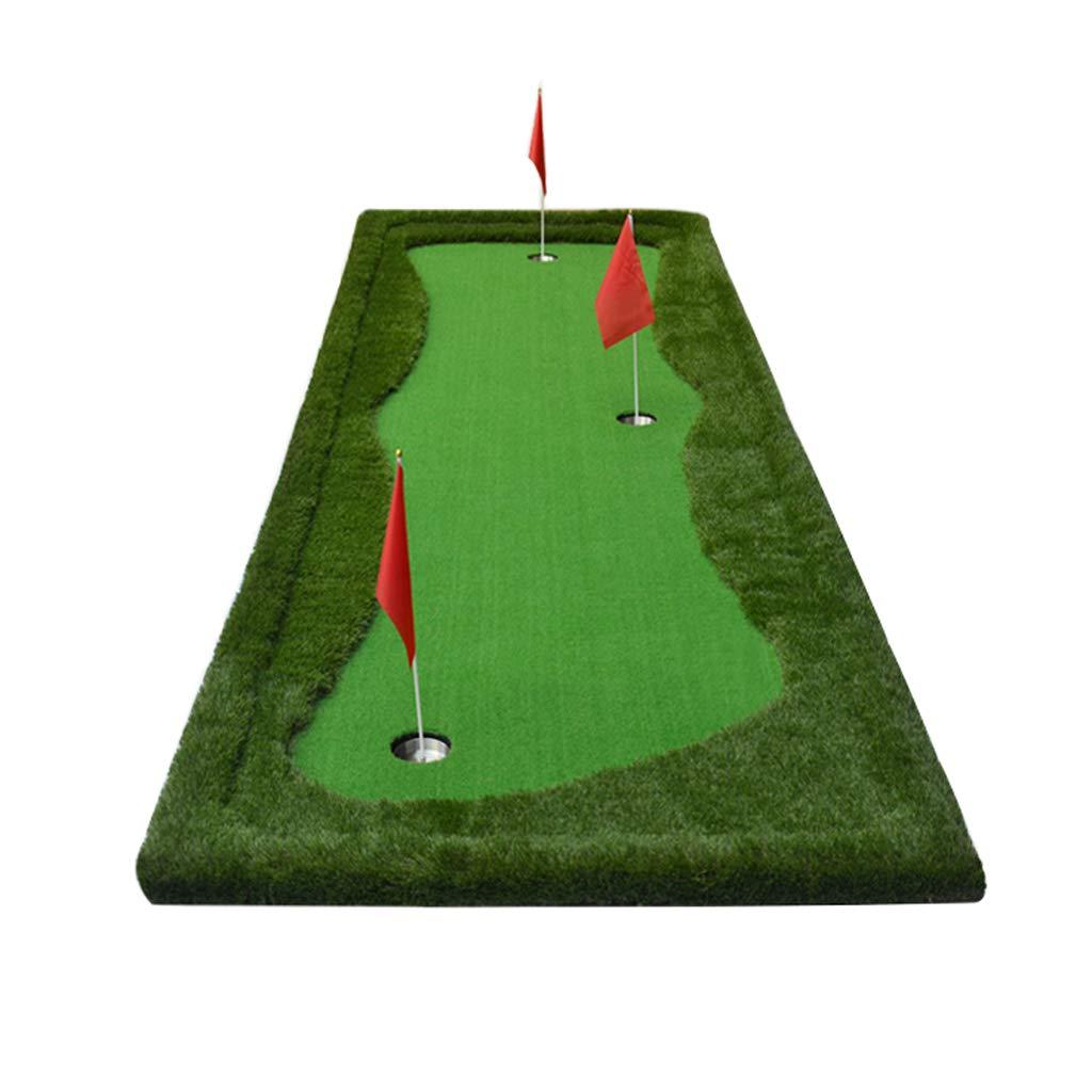 ゴルフマット、ポータブルシミュレーション4色グラスグリーン、ステンレススチールカップパタートレーナー、屋内および屋外