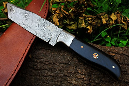 DKC-522 INTREPID Damascus Tanto Hunting Handmade Knife Fixed Blade 8.9 oz 9 Long