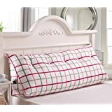 LXY Triangle Cushions Tatami Pillows Double Bed Soft Pack Bed Pillows Bed Backrest Washable Sofa Cushion (Color : D, Size : 1m)