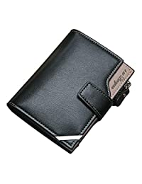 COOLFUN Carteras para Hombres PU Cuero de Piel/Billetera Tarjetero para Caballero Tarjetero Minimalista para Hombre Multiusos La Moda Men's Wallet