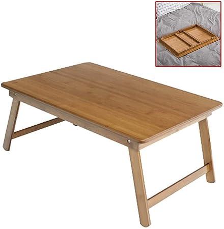 Muebles y Accesorios de jardín Mesas Plegable Cama del Escritorio del Ordenador Estudio de la Cama Estudiante Zhuo Inicio Sala de Mesa de café Esquina Redondeada Material de bambú Natural: Amazon.es: Hogar
