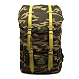 Canvas Backpack Hiking Travel Rucksack in 4 Colors (Camouflage)