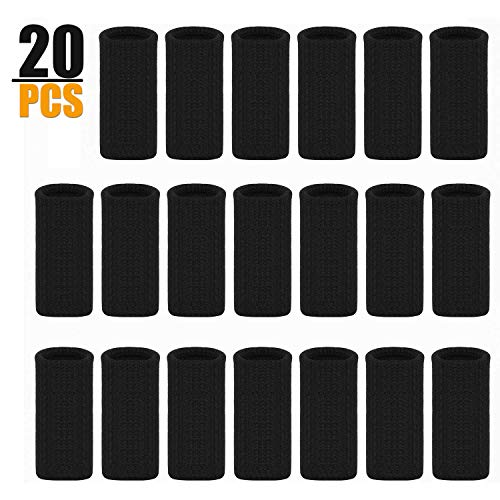 Finger Sleeves 20Pcs, Thumb Splint Brace for Finger Support, Relieve Pain for Arthritis,Trigger Finger, Compression Aid for Sports