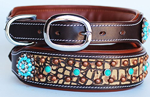 PRORIDER XSmall 9''- 13'' Rhinestone Dog Puppy Collar Crystal Cow Leather 6028CO72