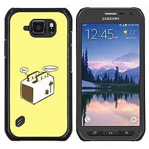 Qstar Arte & diseño plástico duro Fundas Cover Cubre Hard Case Cover para Samsung Galaxy S6Active Active G890A (Brindis Preocupado - Gracioso)