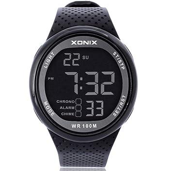 Reloj Deportivo para Hombre, Reloj Electrónico/Resistente Al Agua, Natación, Buceo,