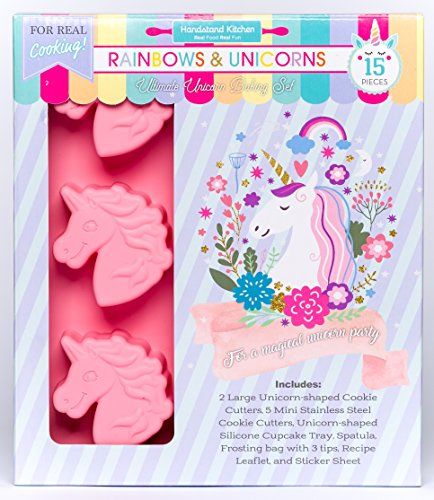 Handstand Kitchen Rainbows and Unicorns 15-piece Ultimate Unicorn Baking Party with Recipes for Kids for $<!--$29.99-->
