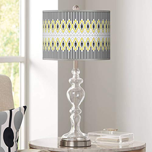 - Desert Geometric Giclee Apothecary Clear Glass Table Lamp - Giclee Glow