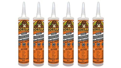 Percent Silicone Sealant Caulk, 6 Pack, Clear, 6 Cartridge (Aquarium Sealer)