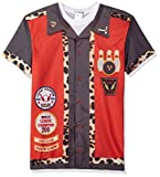 Faux Real Men's Bowling Shirt Printed T-Shirt, Red, XL