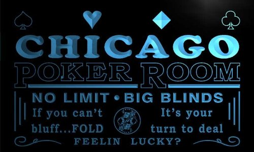 Chicago Poker - pd2053-b Chicago Poker Room Casino Bar Beer Neon Light Sign