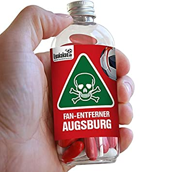 Freiburg /& alle Fu/ßball-Fans Aufgepasst Lakritz Fan-Entferner Augsburg Mainz Lakritz Giftk/öder zur effektiven Abwehr von Augsburg-Fans diesen S/ü/ßigkeiten kann kein Freund widerstehen