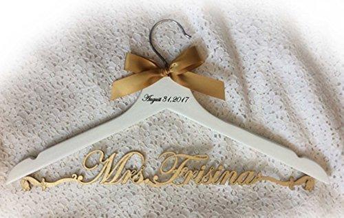Amazon.com: wedding hanger, bride hanger, laser cut hanger, Mrs ...